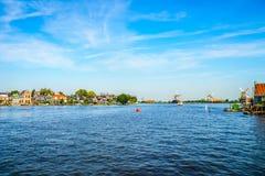 The Dutch Village of Zaandijk and the Historic Windmills of the Zaanse Schans Royalty Free Stock Photo