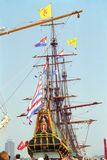 Dutch VOC ship from the golden century of Netherlands Royalty Free Stock Images