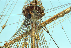 Dutch VOC ship from the golden century of Netherlands Royalty Free Stock Image