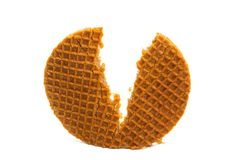 Dutch wafer isolated. On white background stock photography