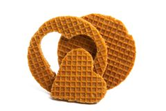 Dutch wafer isolated. On white background stock images