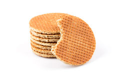 Dutch waffle royalty free stock photos