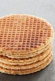 Dutch Waffles close up Royalty Free Stock Photos