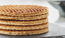 Dutch Waffles close up Stock Images