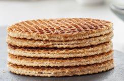 Dutch Waffles close up Stock Image