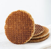 Dutch Waffles close up Royalty Free Stock Images