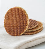 Dutch Waffles close up Stock Photography