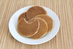 Dutch Waffles on a plate Stock Photo