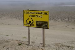 Warning: deadly drift sand Royalty Free Stock Photography