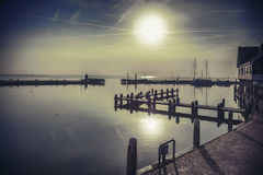 Dutch water by morning Stock Photo