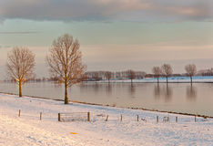 A Dutch waterscape in the afternoon sun Stock Photo