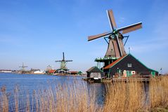 Dutch wind mills Royalty Free Stock Images