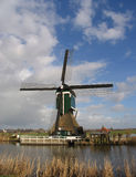 Dutch windmill 1. A windmill in Groot-Ammers, the Alblasserwaard, Holland Royalty Free Stock Images