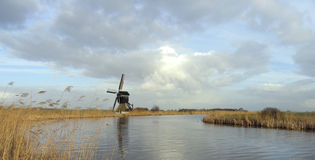 Dutch windmill 10. Windmill, Streefkerk, Holland Royalty Free Stock Images