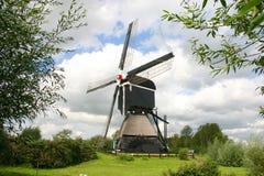 Dutch windmill. With beautiful dutch sky Royalty Free Stock Photo