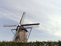 Dutch windmill 13. Windmill in Holland Royalty Free Stock Photography
