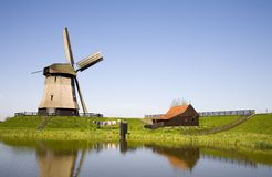 Dutch windmill 21. Historic Dutch windmill located in the Schermer, Noord Holland Royalty Free Stock Images
