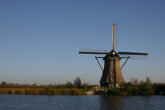 Dutch Windmill. Windmill in Kinderdijk, The Netherlands royalty free stock photography