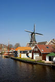 Dutch Windmill. Dutch Mill in landscape Royalty Free Stock Photo