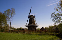 Dutch windmill. Near Apple, Netherlands royalty free stock photos