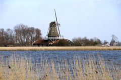 Dutch windmill anna paulowna Royalty Free Stock Photos
