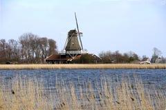 Dutch windmill anna paulowna royalty free stock photos