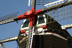 Dutch windmill close up Almelo Royalty Free Stock Image