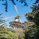 Dutch windmill in Golden Gate Park Stock Images