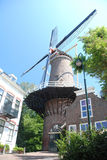 Gouda - Dutch windmill in old city - Zuid Holland - Netherland  Royalty Free Stock Photography