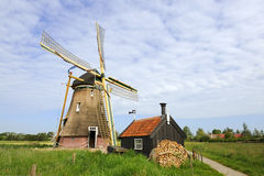 Dutch windmill - Groot-Ammers Royalty Free Stock Photo