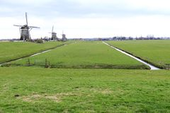 Dutch windmill, Leidschendam near Den Haag Royalty Free Stock Image