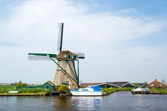 Dutch windmill. Netherlands Stock Images