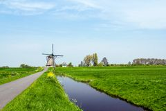 Dutch windmill. Netherlands Royalty Free Stock Photography