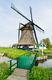 Dutch windmill. Netherlands Royalty Free Stock Photos