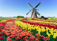 Free Dutch Windmill Over River Waters Stock Photos - 135423013