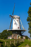 Dutch windmill at the rampart of Veere royalty free stock images