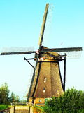 Dutch Windmill Scenery Stock Image