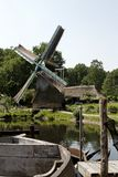Dutch windmill scenery Stock Photo