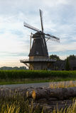 Dutch windmill, small village in North Brabant, mill and corn fi Stock Photo