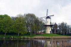 Dutch windmill - Tholen - Zeeland Royalty Free Stock Images
