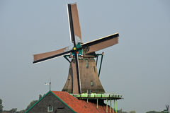 Dutch windmill. Typical Dutch picture. Windmills in Holland Royalty Free Stock Images