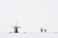 Dutch windmill in winter Stock Photo