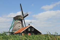Dutch Windmill  Zaandam 2 Stock Images