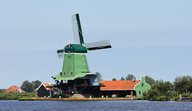 Dutch Windmill Zaandam 3 Stock Image