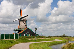 Dutch windmill in the Zaans Schans Royalty Free Stock Photos
