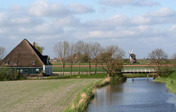 Dutch windmills Royalty Free Stock Images