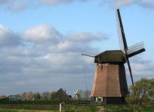 Dutch windmills Stock Photography