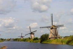 Dutch windmills. Dutch windmill landscape in Netherland Royalty Free Stock Photos