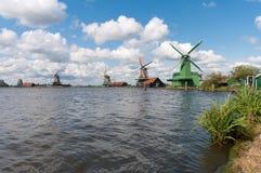 Dutch windmills Stock Photography