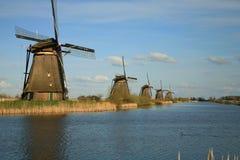 Dutch windmills Royalty Free Stock Image